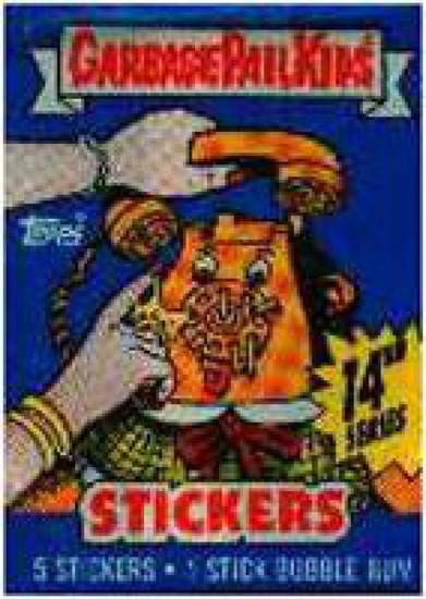 Garbage Pail Kids Topps Series 14 Trading Card Sticker Pack