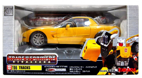 Transformers Japanese Binaltech Yellow Chevrolet Corvette Tracks Action Figure BT-06