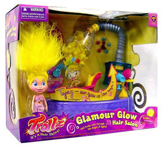 Trollz Glow Hair Salon Topaz Figure Set