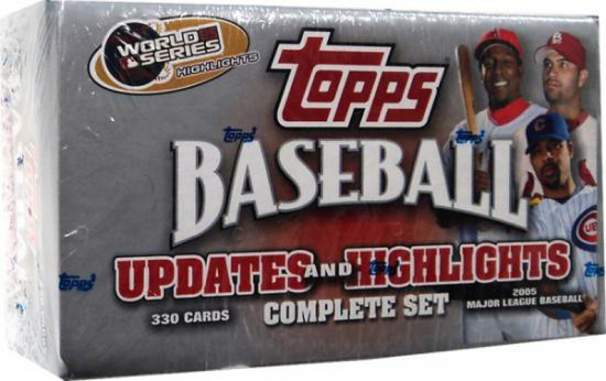 MLB 2005 Topps Baseball Cards 2005 Topps Updates & Highlights Complete Set