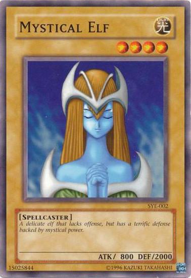 YuGiOh Yugi Evolution Deck Common Mystical Elf SYE-002