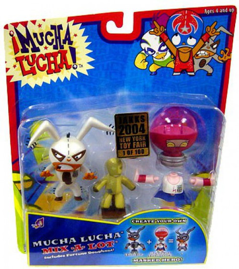 Mucha Lucha Mix-a-Lot Megawatt the Masher & The Flea Exclusive Action Figure 2-Pack