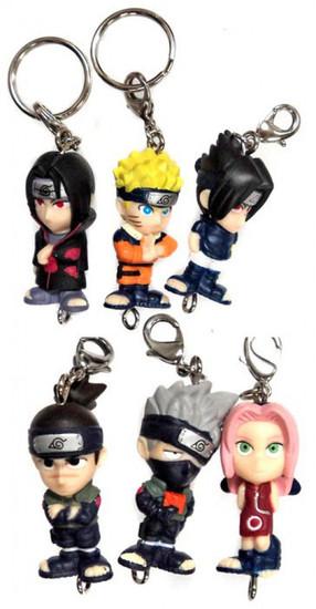 Naruto Set of 6 Mini Figure Keychains