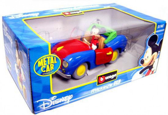 Disney Mickey Mouse Burago Mickey's 113 Diecast Car