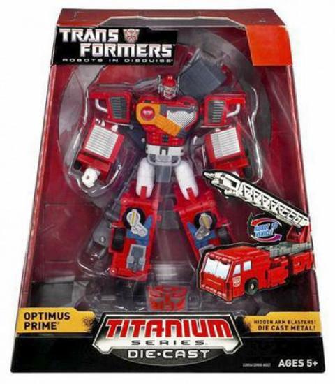 """Transformers Robots in Disguise TItanium Series Optimus Prime 6-Inch 6"""" Diecast Figure"""
