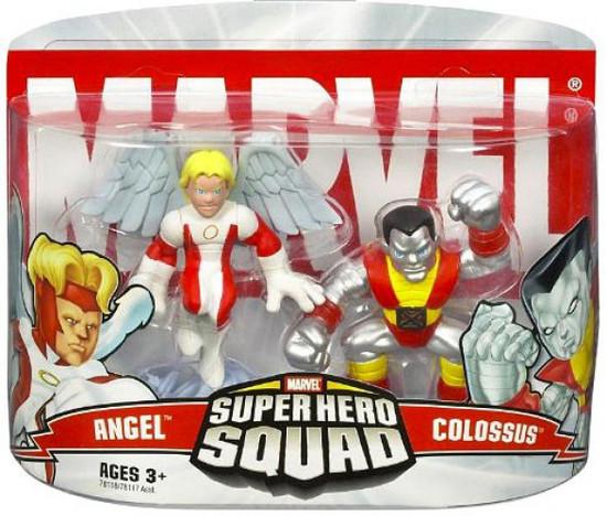 Marvel Super Hero Squad Series 1 Colossus & Angel 3-Inch Mini Figure 2-Pack