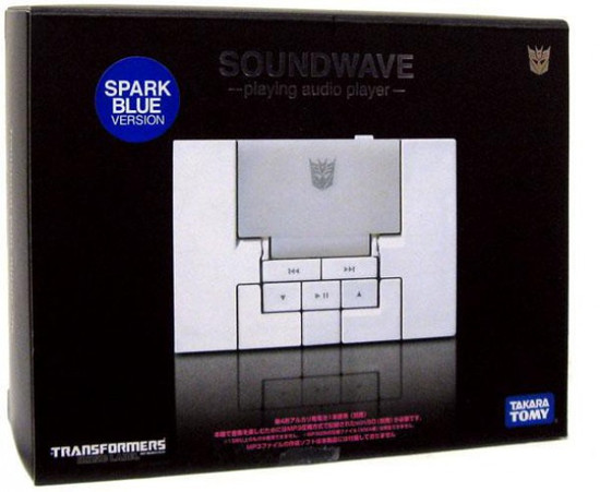 Transformers Japanese Music Label Soundwave MP3 Player [Spark Blue]