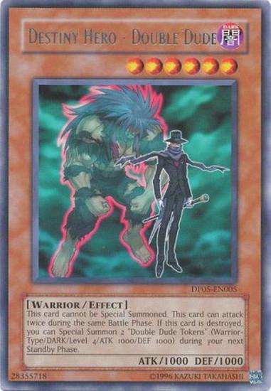 YuGiOh GX Trading Card Game Duelist Series Aster Phoenix Rare Destiny Hero - Double Dude DP05-EN005
