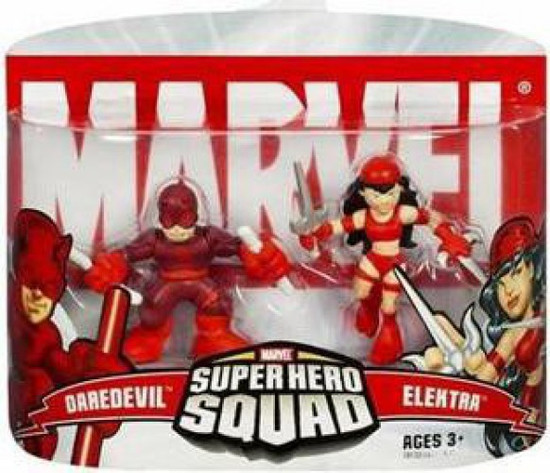 Marvel Super Hero Squad Series 2 Daredevil & Elektra 3-Inch Mini Figure 2-Pack