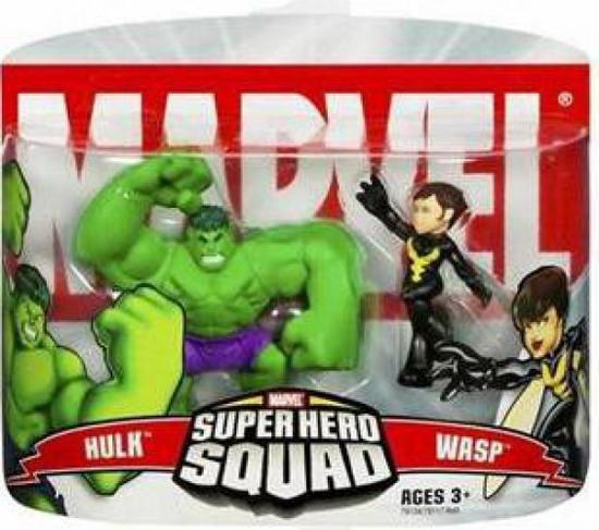 Marvel Super Hero Squad Series 2 Wasp & Hulk 3-Inch Mini Figure 2-Pack