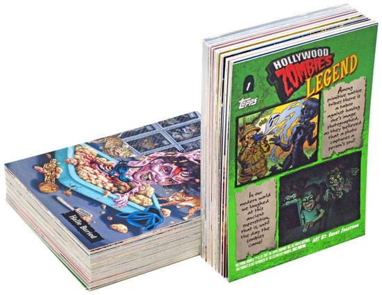 Hollywood Zombies Topps Series 1 Trading Card Set [72 cards]