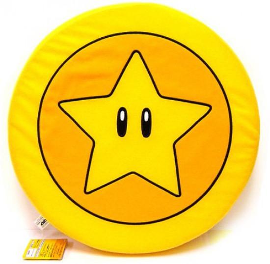 New Super Mario Bros Wii Star Coin 12-Inch Plush
