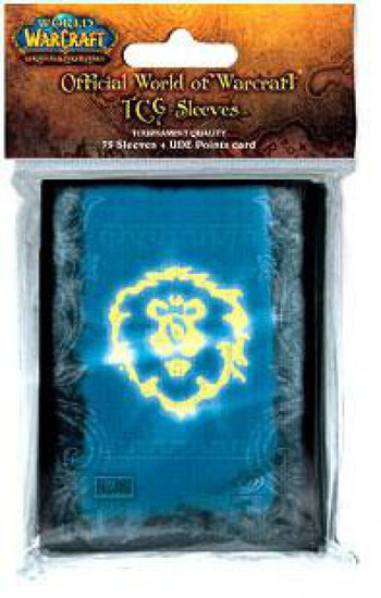 World of Warcraft Trading Card Game Alliance Card Sleeves [75 Count]