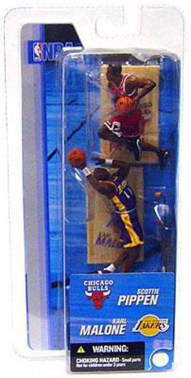 McFarlane Toys NBA Chicago Bulls / Los Angeles Lakers Sports Picks 3 Inch Mini Series 2 Scottie Pippen & Karl Malone Mini Figure 2-Pack