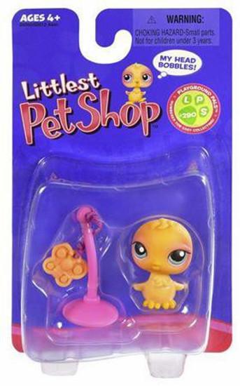 Littlest Pet Shop Chick Figure #290 [Butterfly Toy on String]