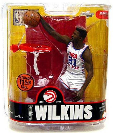 McFarlane Toys NBA Atlanta Hawks Sports Picks Legends Series 3 Dominique Wilkins Action Figure [White All Star Jersey Variant]