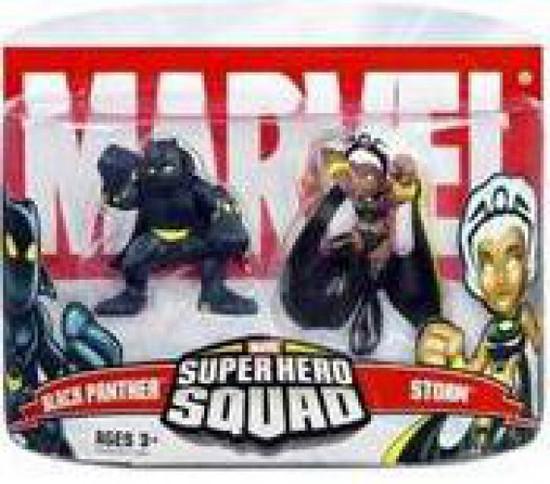Marvel Super Hero Squad Series 5 Black Panther & Storm 3-Inch Mini Figure 2-Pack