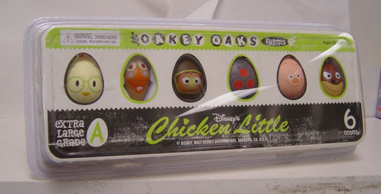NECA Disney Chicken Little Set of 6 Mini Block Figures in Plastic Egg Carton