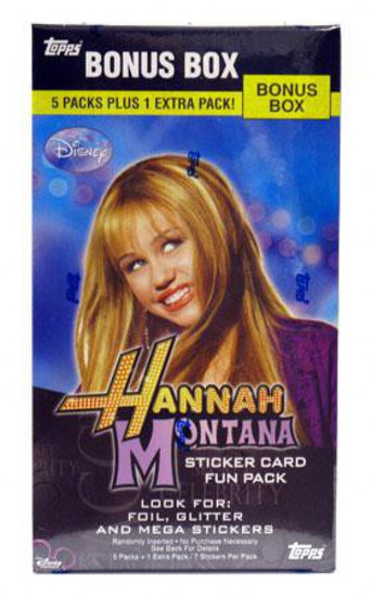 Disney Hannah Montana Sticker Card Bonus Box