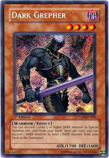 YuGiOh GX Trading Card Game Phantom Darkness Secret Rare Dark Grepher PTDN-EN000