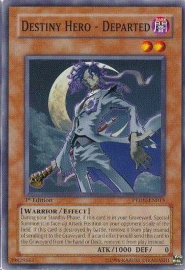 YuGiOh GX Trading Card Game Phantom Darkness Common Destiny Hero - Departed PTDN-EN015