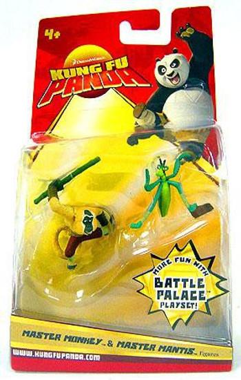 Kung Fu Panda Master Monkey & Master Mantis Mini Figure 2-Pack