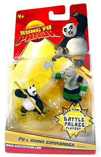 Kung Fu Panda Po & Rhino Commander Mini Figure 2-Pack