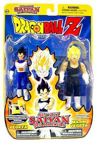Dragon Ball Z Secret Saiyan Warriors Vegeta & Majin Vegeta Action Figure 2-Pack