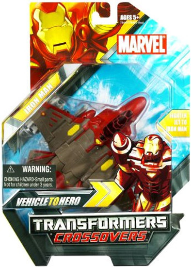 Marvel Transformers Crossovers Iron Man Action Figure [Jet Plane]