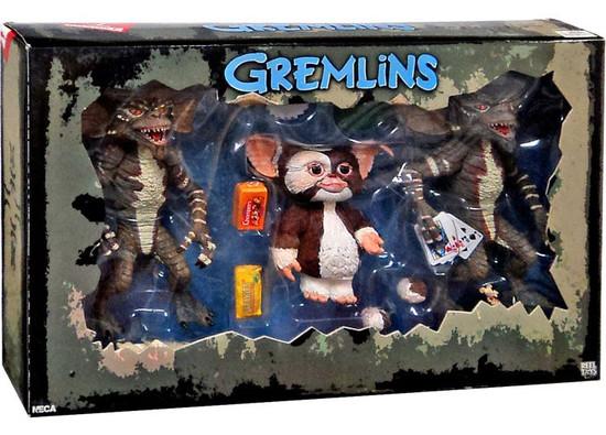 NECA Gremlins Gizmo, Poker Stripe & Movie Stripe Action Figure 3-Pack