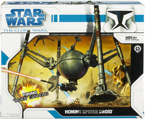 Star Wars The Clone Wars 2008 Homing Spider Droid Action Figure Vehicle