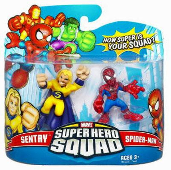 Marvel Super Hero Squad Series 9 Sentry & Spider-Man 3-Inch Mini Figure 2-Pack
