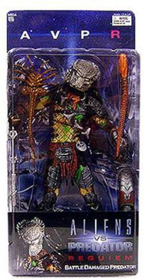 NECA Alien vs Predator AVP Requiem Series 4 Battle Damaged Predator Action Figure [Masked Wolf]