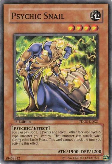 YuGiOh The Duelist Genesis Common Psychic Snail TDGS-EN021