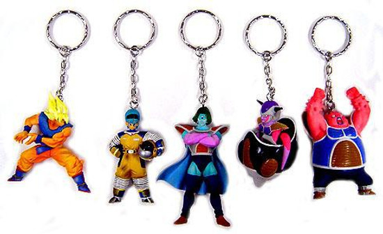 Dragon Ball Z Set of 5 Frieza Saga Keychains