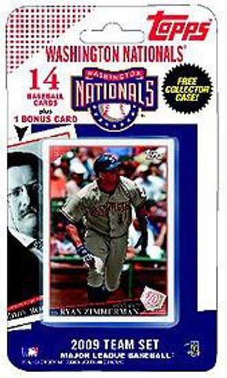 MLB 2009 Topps Baseball Cards Washington Nationals Team Set [Includes Teddy Roosevelt Card]