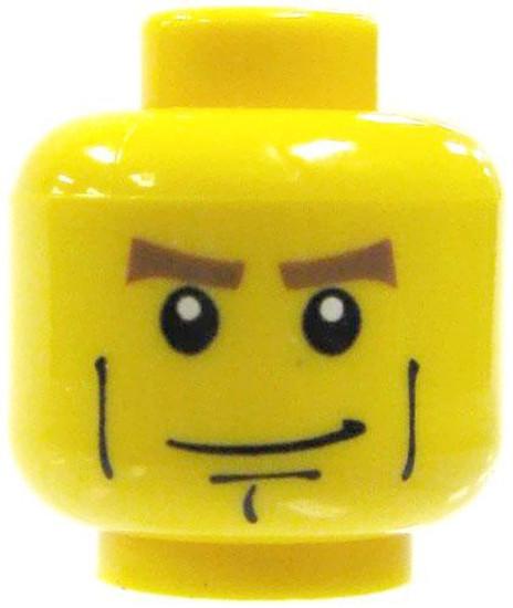 Hero Chin Minifigure Head [Yellow Loose]