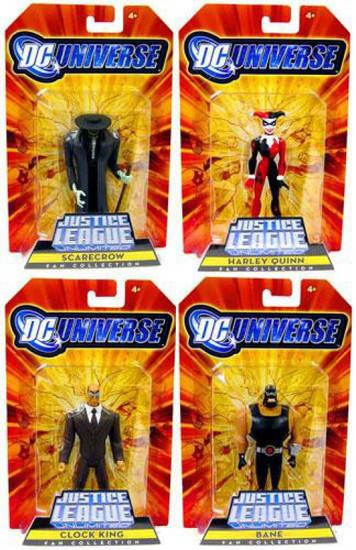 DC Justice League Unlimited Gotham City Criminals Set of 4 Exclusive Action Figures