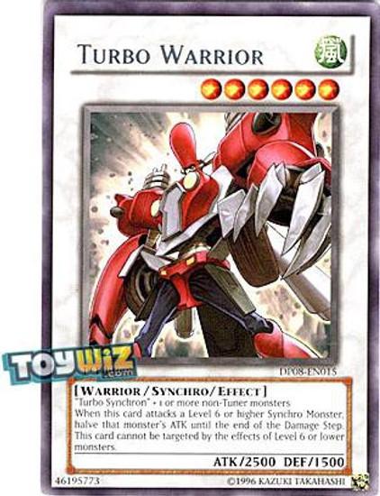 YuGiOh YuGiOh 5D's Duelist Pack Yusei Fudo Rare Turbo Warrior DP08-EN015
