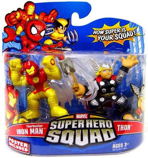 Marvel Super Hero Squad Series 13 Thorbuster Iron Man & Thor 3-Inch Mini Figure 2-Pack