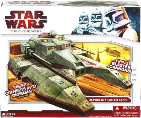 Star Wars The Clone Wars 2009 Republic Fighter Tank Action Figure Vehicle [Saber]