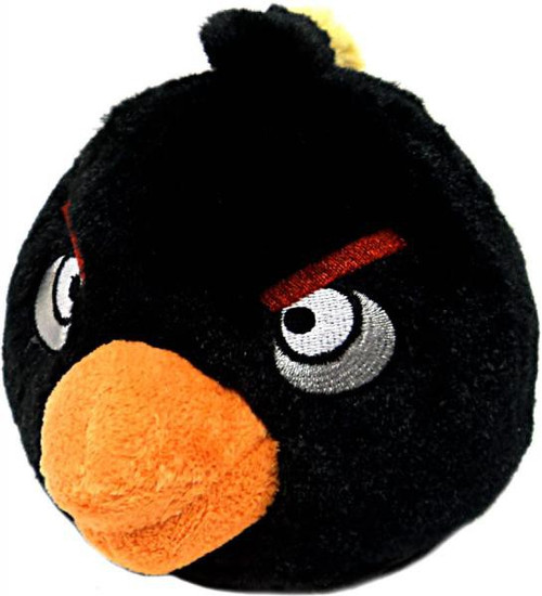 Angry Birds Black Bird 8-Inch Plush [With Sound]