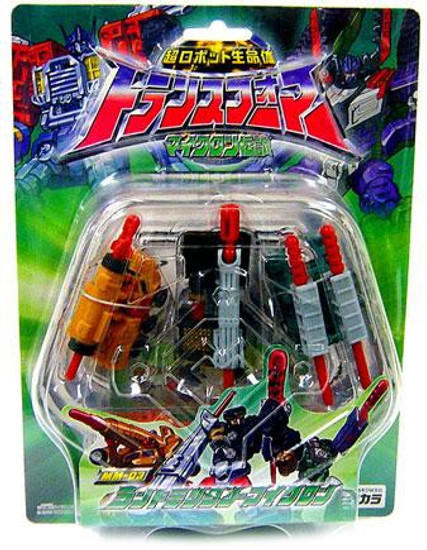 Transformers Armada Japanese Land Military Microns Action Figure 3-Pack MM-03 [Shot, Bomb & Crack]