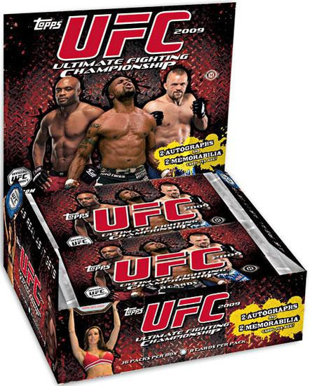 UFC Ultimate Fighting Championship 2009 Round 2 Trading Card HOBBY Box [16 Packs, 2 Autographs & 2 Memorabilia Cards!]