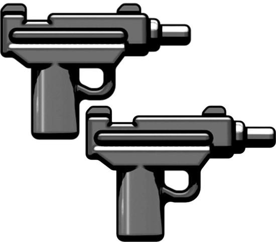 BrickArms Set of 2 Micro Uzi SMG 2.5-Inch [Gunmetal]