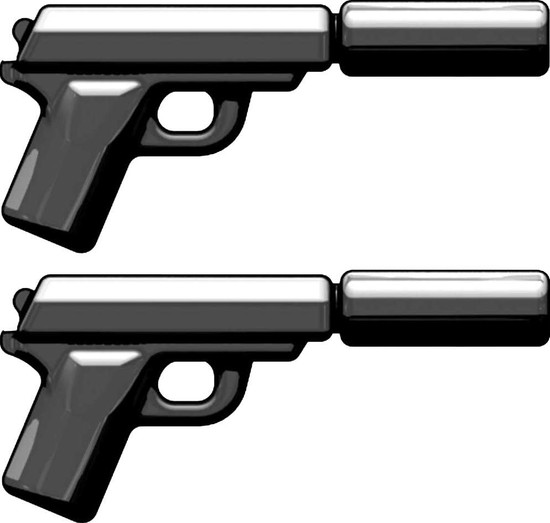 BrickArms Pair of PPK Tactical Spy Pistols 2.5-Inch [Black]