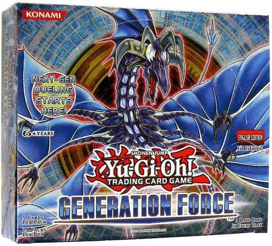 YuGiOh Trading Card Game Generation Force Booster Box [24 Packs]