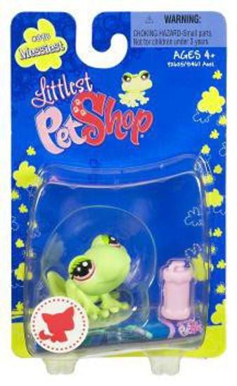 Littlest Pet Shop Messiest Frog Figure #898 [Pink Waterbottle]