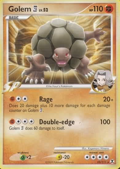 Pokemon Platinum Rising Rivals Rare Golem 4 #23