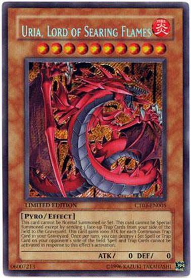 YuGiOh 2006 Collector Tin Secret Rare Uria, Lord of Searing Flames CT03-EN005